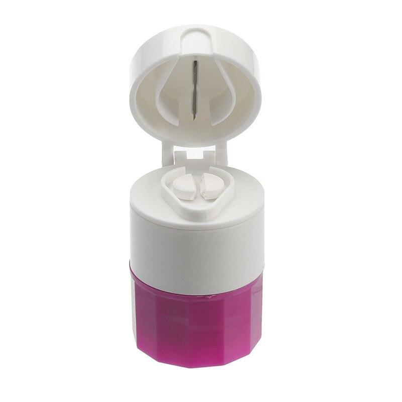 Cortador de píldoras de 4 capas cajas divisores caja medicina amoladora caja de almacenamiento 64X50X40mm cuidado Personal de la salud