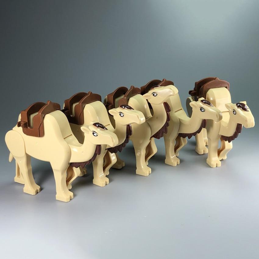 Únicas nuevo figuras MOC herramienta de accesorios Animal camello del desierto juego de bloques de construcción bloques de modelismo juguetes de bricolaje para niños