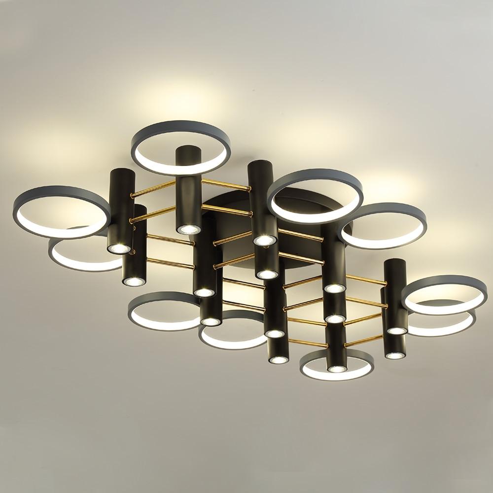 Zerouno, lámpara de techo de lujo para interiores, luz led de techo de anillo para hotel, centro comercial, decoración de loft, bombillas led diarias para el hogar