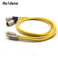 haldane pair snake 1 rca to xlr balacned audio cable rca male to xlr male interconnect cable with vdh van den hul 102 mk iii
