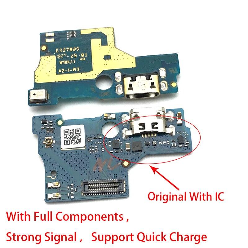10 unids/lote... conector de puerto de carga Micro USB placa PCB cable flexible de carga para ASUS Zenfone Live L1 ZA550KL X00RD reemplazo