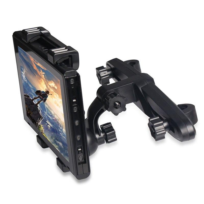 Accesorios de juego, soporte de asiento trasero, 360 grados, interruptor NS, soporte de consola, soporte Universal ajustable para interruptor Nintendo