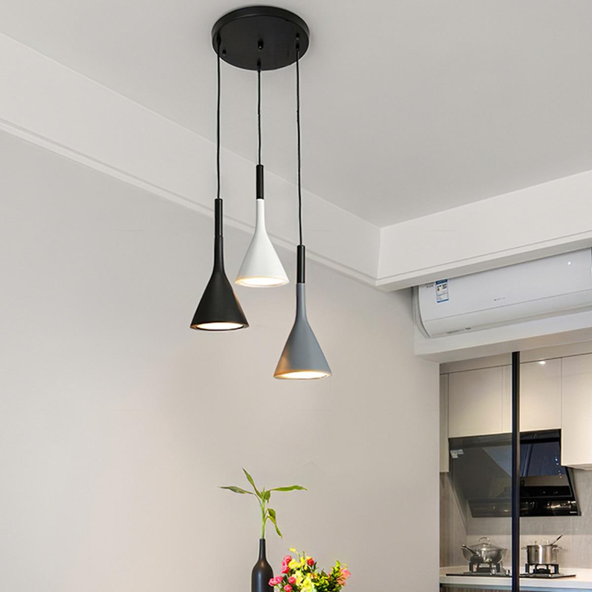 Лидер продаж, модная светодиодная люстра в скандинавском стиле с динамиком, современная лампа для ресторана, бара, спальни, кафе, простая ла...