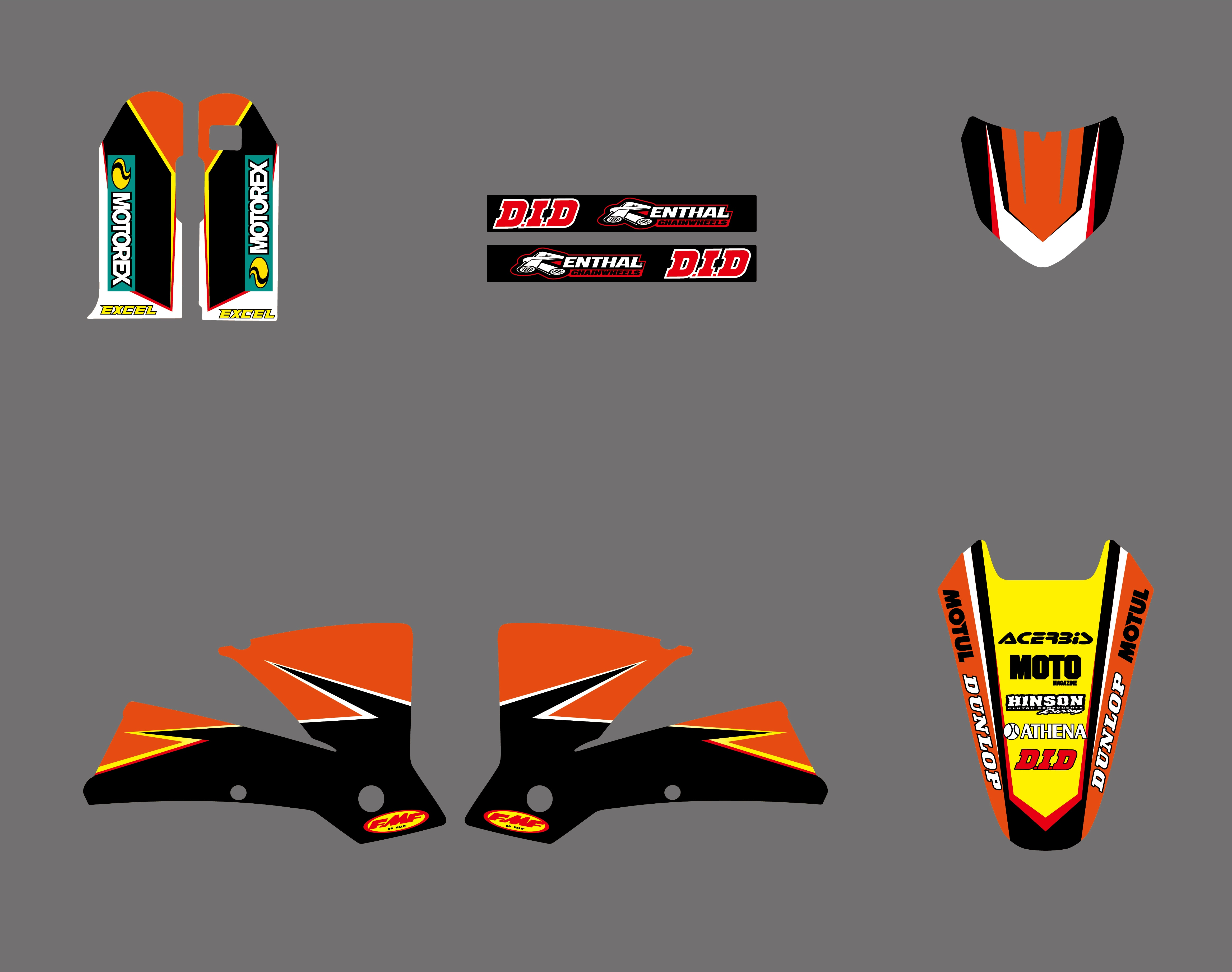 0290 NEW TEAM GRAPHICS WITH MATCHING BACKGROUNDS FIT FOR SX MXC 125/250/380 /400/520 1998 1999 2000