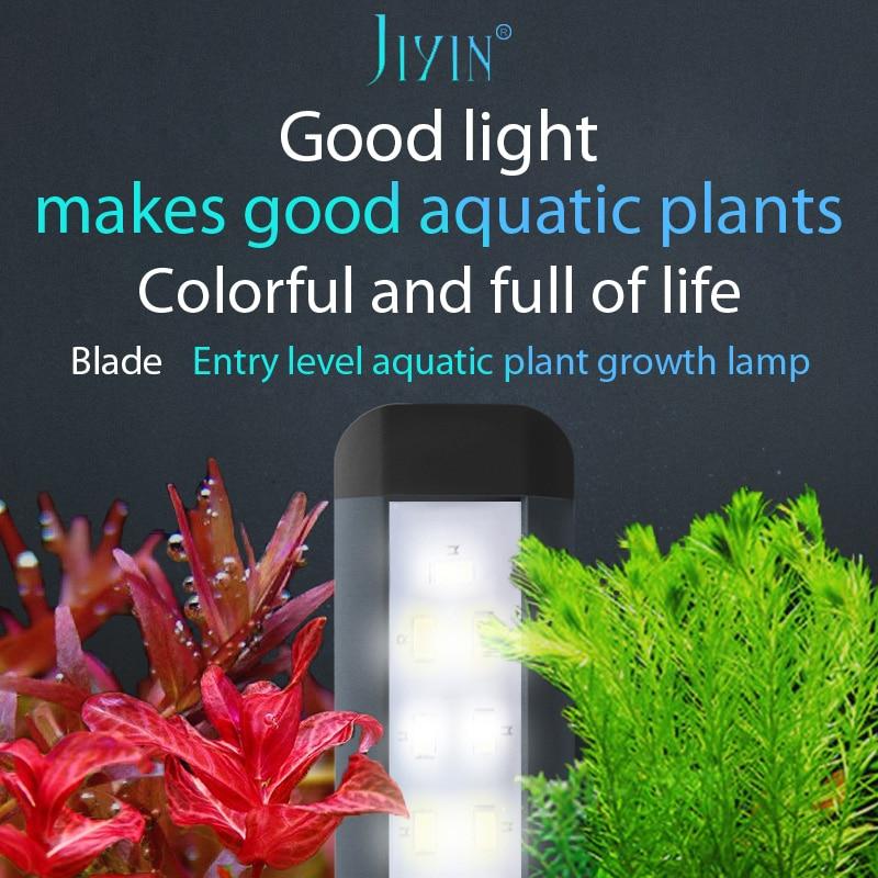 JIYIN Ultra thin LED growth lamp for professional aquatic plants aquarium lighting lamp all optical spectrum bracket 26/36/46cm