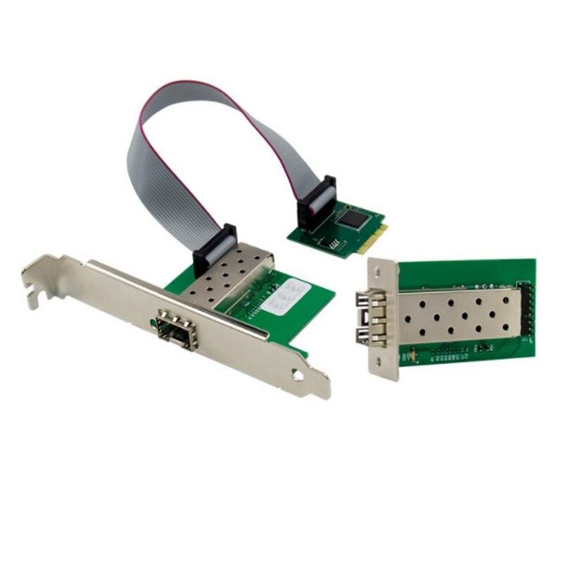 m2 a e placa de rede do servidor da fibra do gigabit unico adaptador otico da fibra