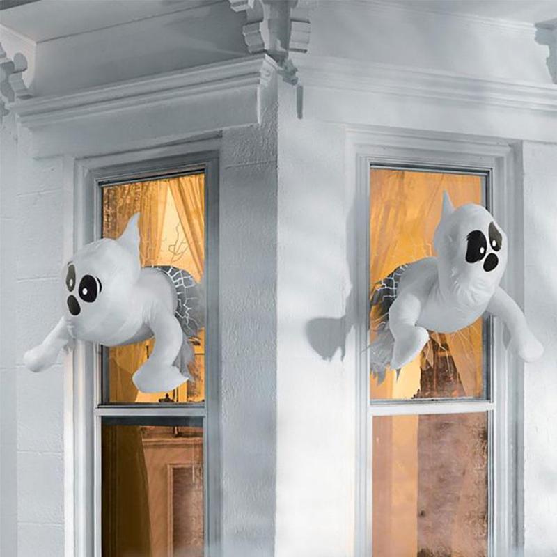 Декор для окна, реквизит, украшение на Хэллоуин, украшение для окна, призрака, сломанного окна, призрака, Хэллоуин, уличное украшение для две...