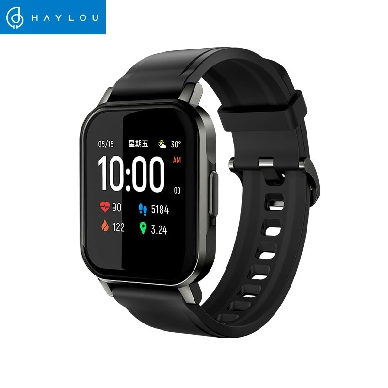 New 2021 Hot Haylou LS02 Smart Watch English Version , IP68 Waterproof ,12 Sport Modes,Call Reminder, Bluetooth 5.0 Smart Band