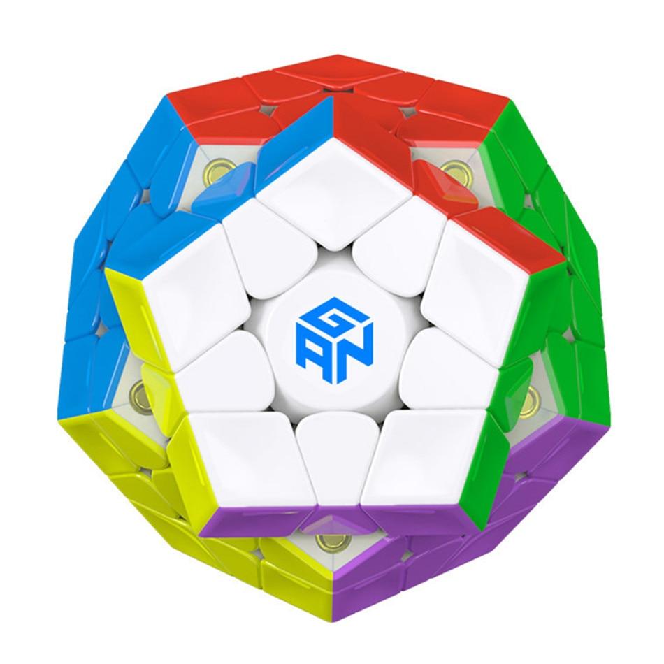 جان 3X3 مكعب مغناطيسي megaminxads جان مغناطيسي 3x3x3 Megaminx المكعب السحري جان 3x3x3 مكعبات تعليمية سرعة Dodecahedron Megaminx