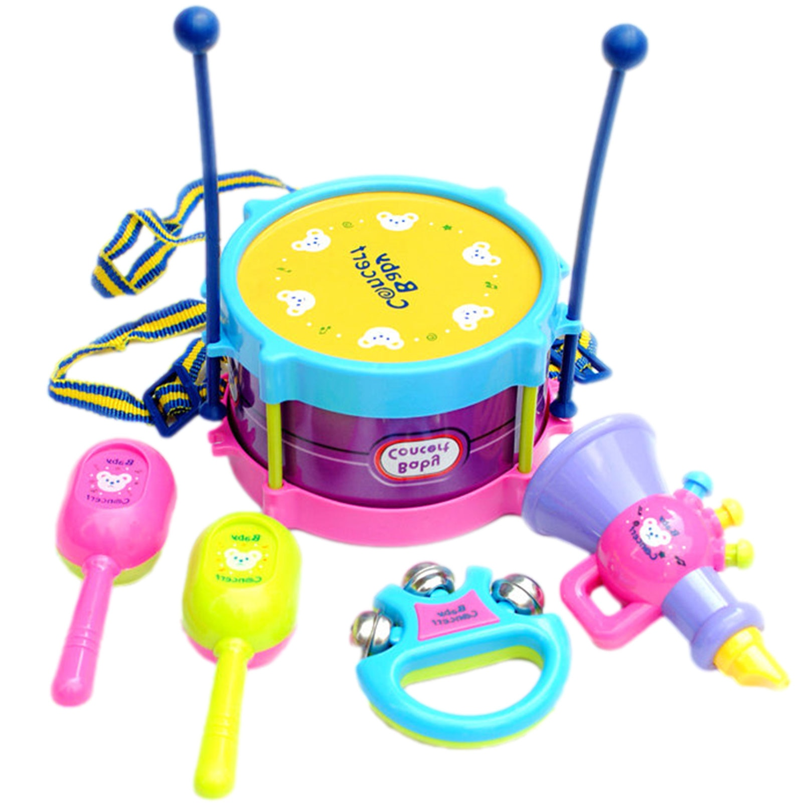 Baby Musical Drum Toy Set Music Toys Hand Drums Children Musical Instruments Kids Enlightenment Early Educational Dynamic Toys neje dg0006 1 mini finger touch drums set musical toy silver black
