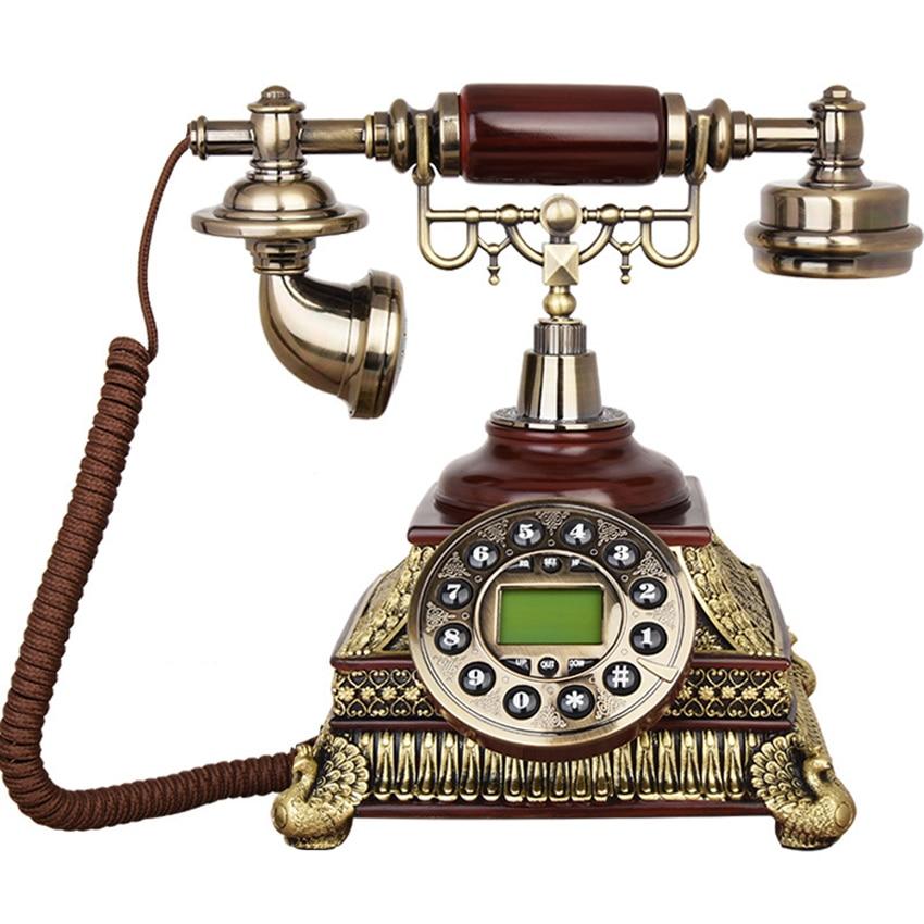 Antique Desk Phone Corded Telephone Phone Antique Button Dial Handset Corded Desk Home Office Vintage Decorative Telephone