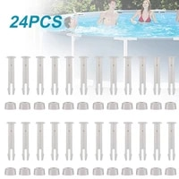 24pcs abs pool joint pins 6cm2 36in cap set seals for intex swimming pool replacement parts 28270 28273