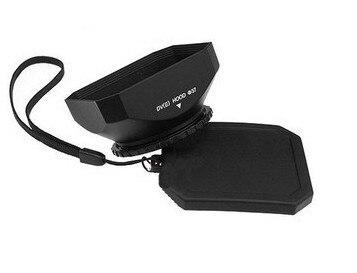 Mennon 25mm 43mm 46mm 58mm câmera dv máscara quadrada com capa de lente