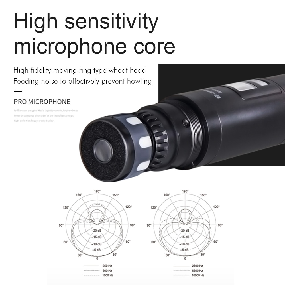 Wireless Microphone G-MARK G320AM Professional UHF Handheld Mic Frequency Adjustable 100M Receive For Karaoke Church Party Show enlarge