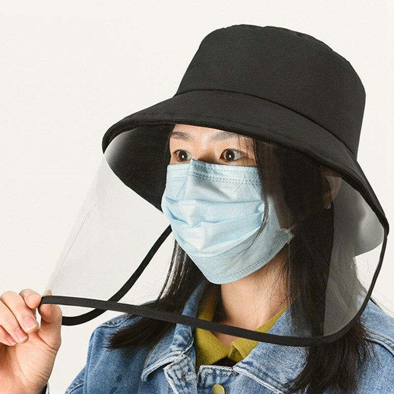 Woman Man Protection Hat Prevent Droplets Caps Unisex Sun Hat Mask Hat Removable Windproof Fsherman's Cap