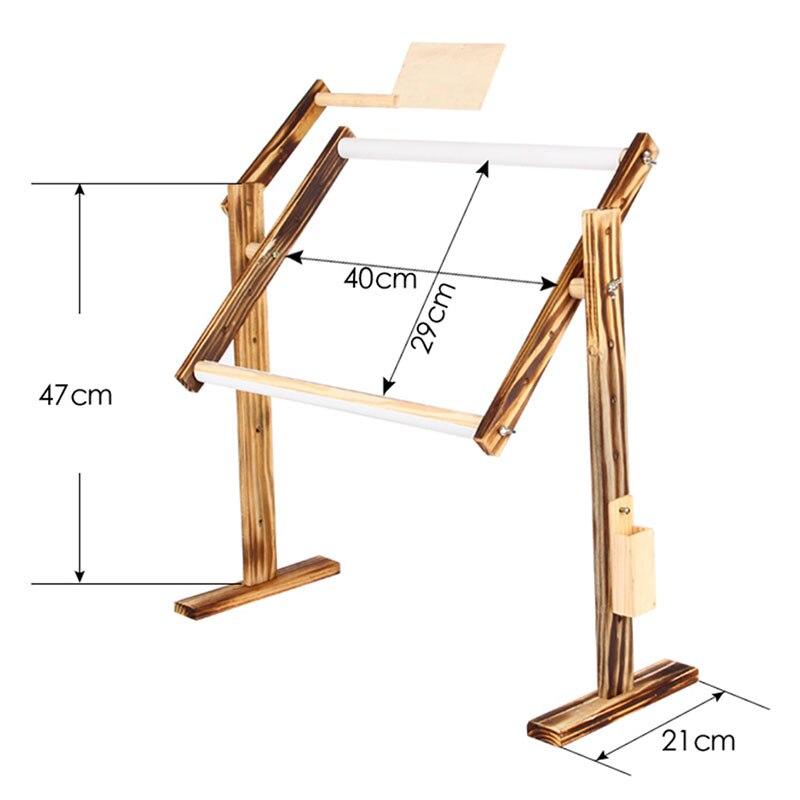 Solid Wood Cross Stitch Rack Adjustable Stand Desktop Cross Stitch Embroidery Frame JS23