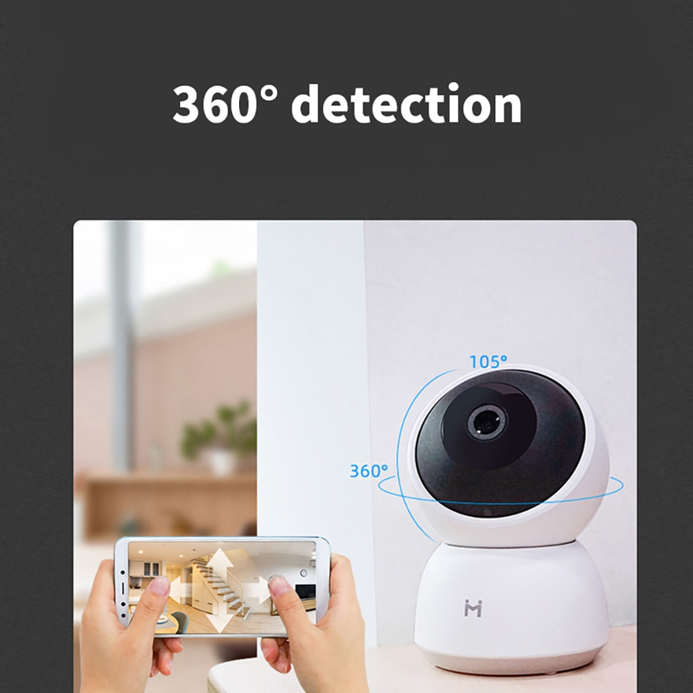 A1 كاميرا شاومي الذكية 2K 1296P 1080P HD 360 ° زاوية واي فاي كاميرا ويب للرؤية الليلية فيديو IP مراقبة أمن الطفل للأطفال لتطبيق Mi Home