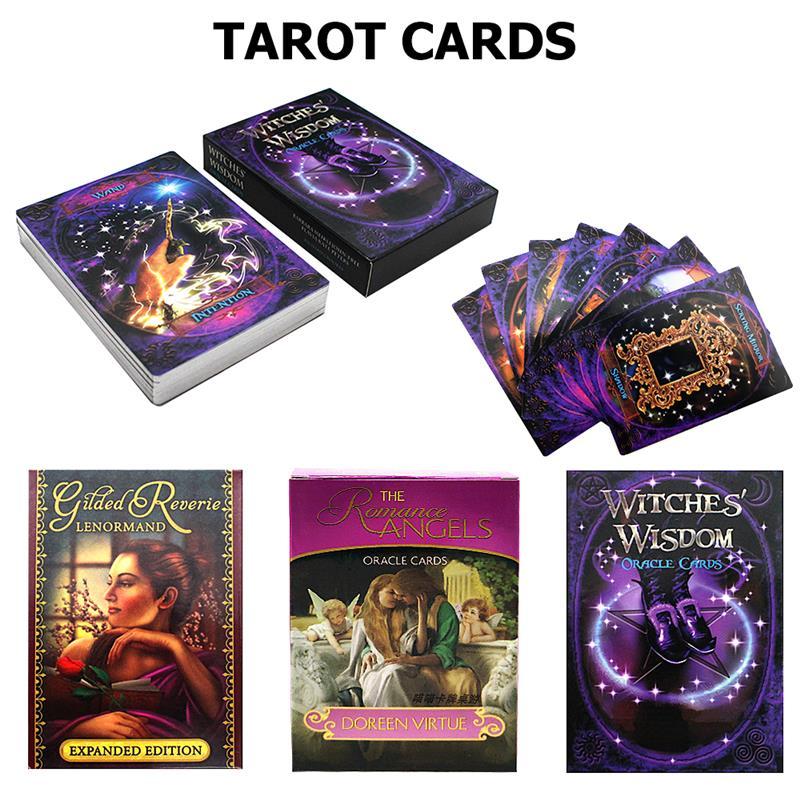 2020 Tarot cartes oracle Deck mystérieux Divination Tarot Deck pour femmes filles cartes jeu juegos de mesa, jeu de société