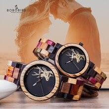 Couple montre BOBO oiseau en bois hommes femmes Valentine anniversaire anniversaire personnalisé montre-bracelet reloj mujer grand cadeau livraison directe