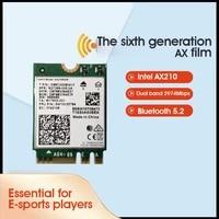 Dual Band AX210 Wi-Fi 6E Wireless Card M 2 NGFF 2400Mbps Wireless Card 2 4Ghz 5G 802 11ax Bluetooth 5 2 Wifi Network Card