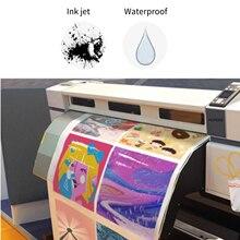 Impresora de inyección de tinta láser A4 impermeable, fotocopiadora de papel artesanal, papel autoadhesivo blanco, hoja de etiqueta, papel kraft, 10 Uds./50 Uds.
