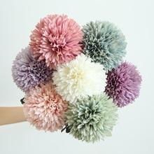 Hot 1 PCS dandelion flower ball simulation road lead flower wall fake flower home decoration wedding bouquets cheap