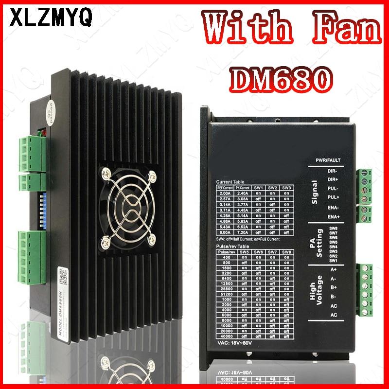 DM860H السائر وحدة تحكم في مشغل المحرك DM860 microstep فرش محرك خطويّ بالتيار المستمر قذيفة ل 57 86 السائر Nema23 Nema34