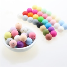 100pc 10mm Loose Silicone Beads for Teething Necklace baby Beads For chew Teether BPA free Loose Bea