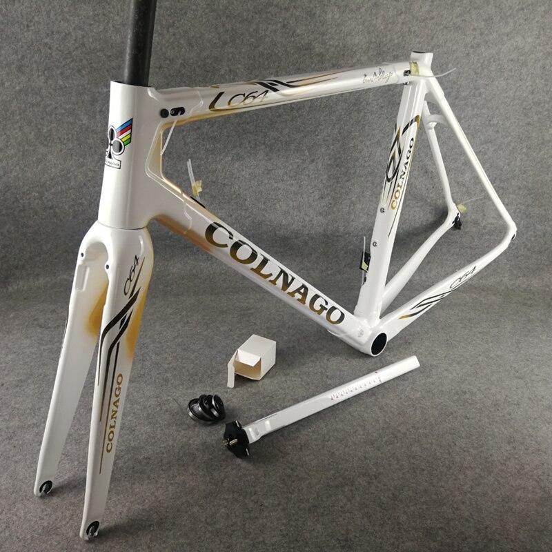 T1100 UD Logotipo de oro blanco Colnago C64 cuadros de bicicleta de carretera de carbono bicicleta marco concepto C60 V3Rs con 48/50/52/54/56cm