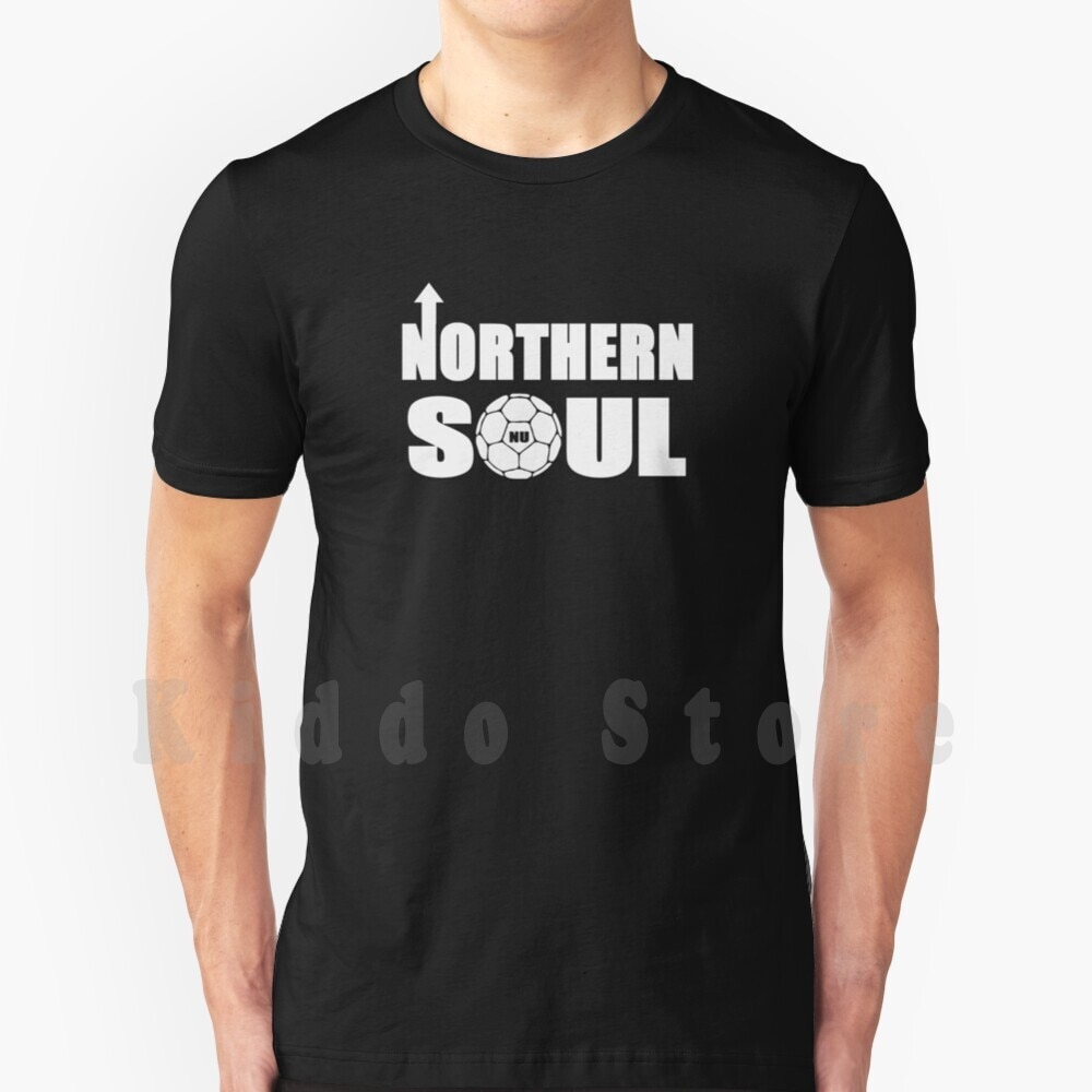 Northern Soul T Shirt Print For Men Cotton New Cool Tee Football Soccer Ultras Retro Magpies Geordies Bobby Robson