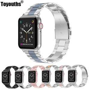 Women Men Strap For Apple Watch band 44 mm 40mm 38mm 42mm Link Stainless Steel iwatch Series 5 4 3 2 1 Watchband Accessories