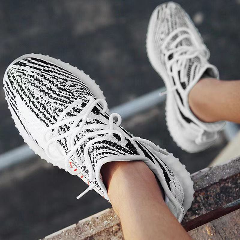 New Running Shoes Static Reflective Black Cloud White Zebra Blue Tint Zapatos De Mujer Sneakers Cinder Core Big Size 4-13