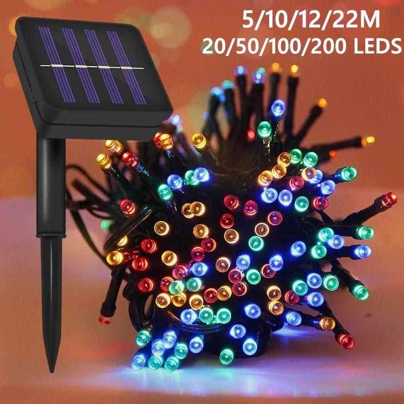 20/50/100/200 LEDS Solar Lamp Power LED String Fairy Lights Solar Garlands Garden Christmas Decor For Outdoor Lighting