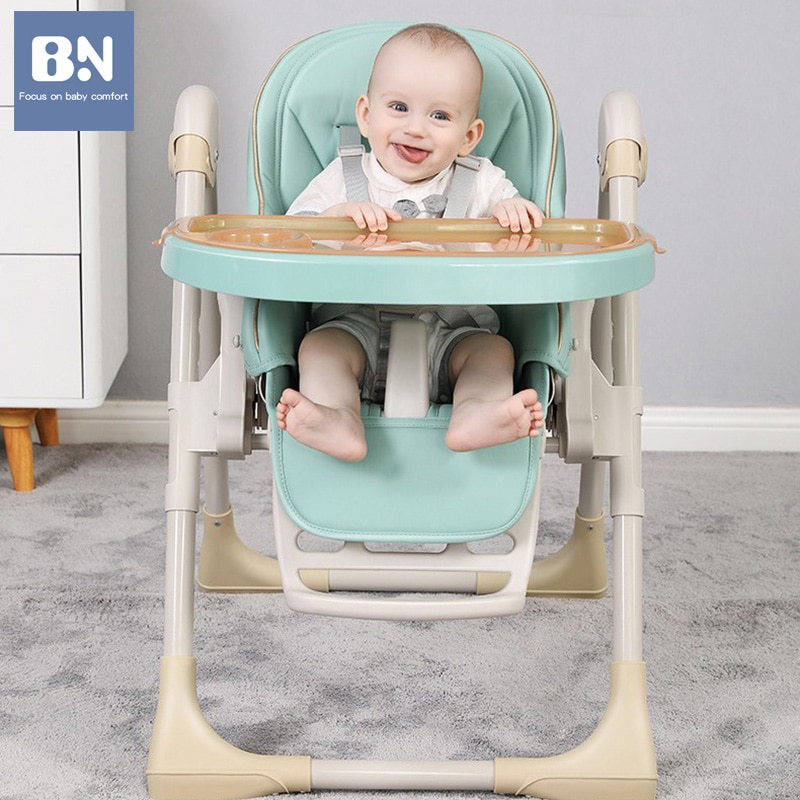 BN Multifunctional Baby Chair Height Adjustable High Chair Portable Foldable Dining Table Seat Infant Kids Feeding for 0-4 Years