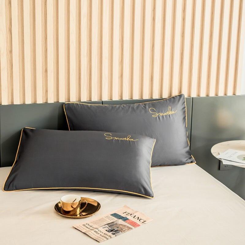 اثنان من غطاء وسادة 100% قطن ، غطاء وسادة ، منزل ، سرير كينج ، صديق للبشرة ، ساتان ، لون عادي ، أفضل بائع ، شحن مجاني