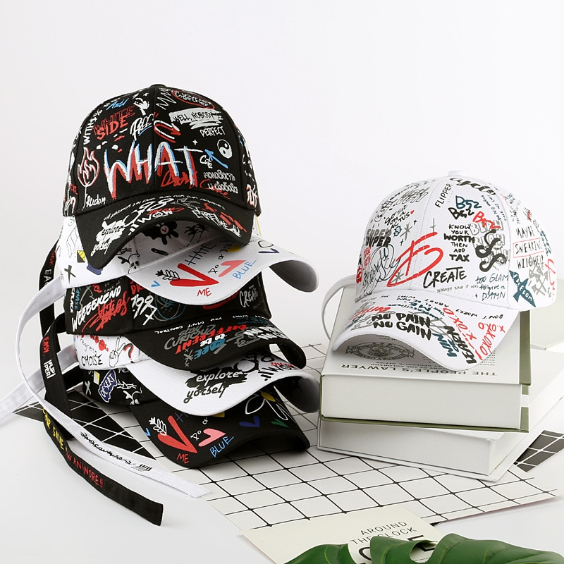 Moda de verano doodle gorra de béisbol papá sombrero para hombres al aire libre transpirable ajustable Snapback visera para deportes gorra de estudiante hip-hop A115