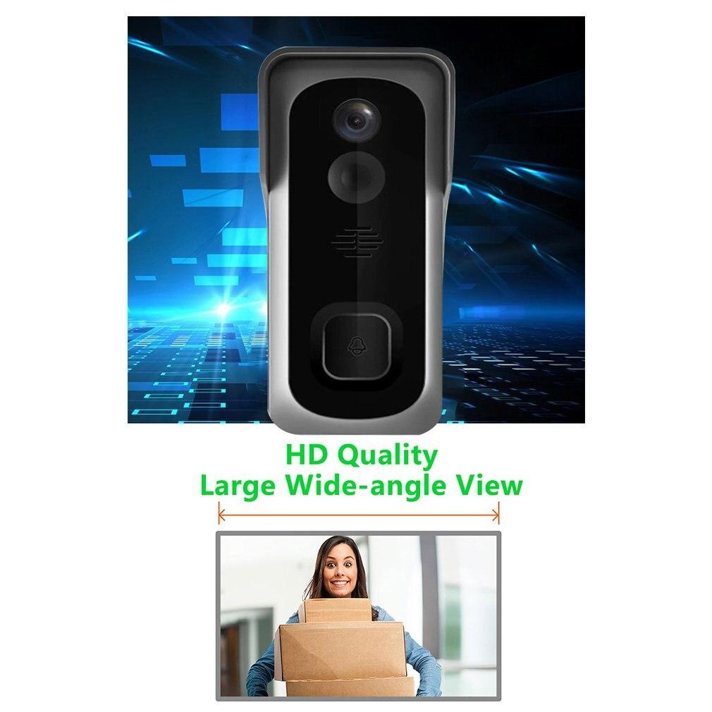 Wireless WiFi Doorbell Freely Paste Video Doorbell Video Call Infrared Doorbell enlarge