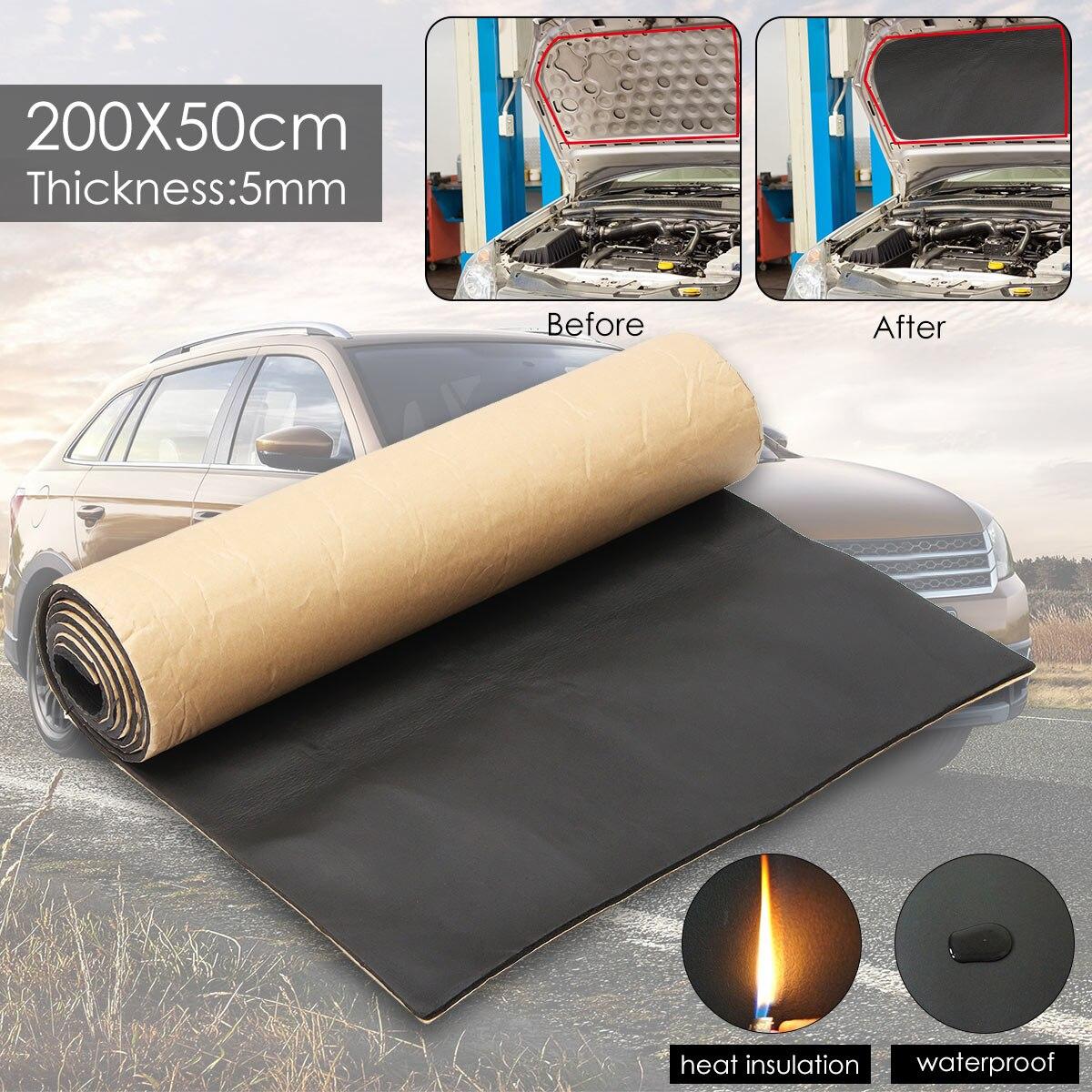1 рулон, 200 см х 50 см, 5 мм, звукоизоляция автомобиля, омертвевающий грузовик, анти-шум, звукоизоляция, хлопок, тепло, закрытый, ячейка, пена, самоклеющаяся