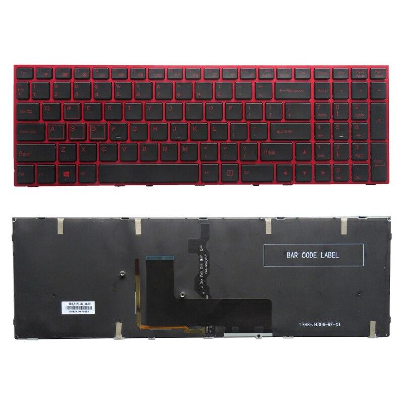 لوحة مفاتيح الولايات المتحدة للكمبيوتر المحمول, لوحة مفاتيح جديدة للكمبيوتر المحمول لكفو P650 P670RE3 P670RG P650RE3 P650RE6 P650RG لوحة مفاتيح أمريكية ملونة ...