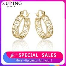 Xuping موضة رائعة أقراط بسيطة ضوء الذهب الأصفر اللون مجوهرات مطلية للنساء عيد الميلاد هدية S231-99443