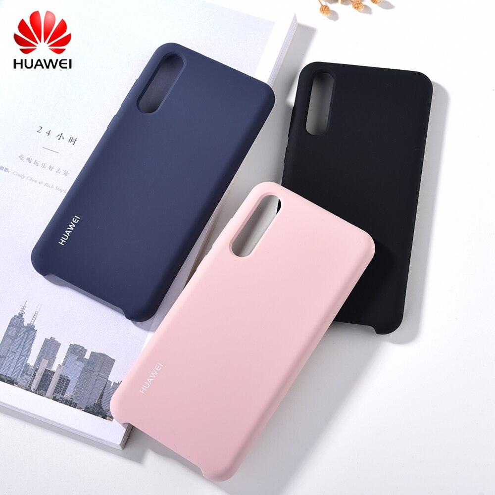 Оригинальный официальный жидкий силиконовый чехол Huawei P20/P20 Pro шелковистая гладкая мягкая сенсорная задняя крышка для P20 Pro Противоударная полная защита