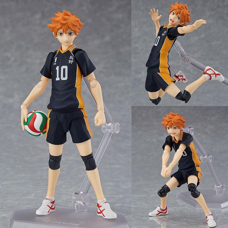#358 hinata shoyo haikyuu! Anime figura de ação transformador brinquedos voleibol karasuno koukou modelo estatueta móvel