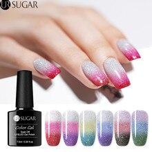 UR sucre 3 couleurs température couleur changeante Gel vernis à ongles arc-en-ciel thermique tremper hors UV Gel vernis 7.5ml Nail Art