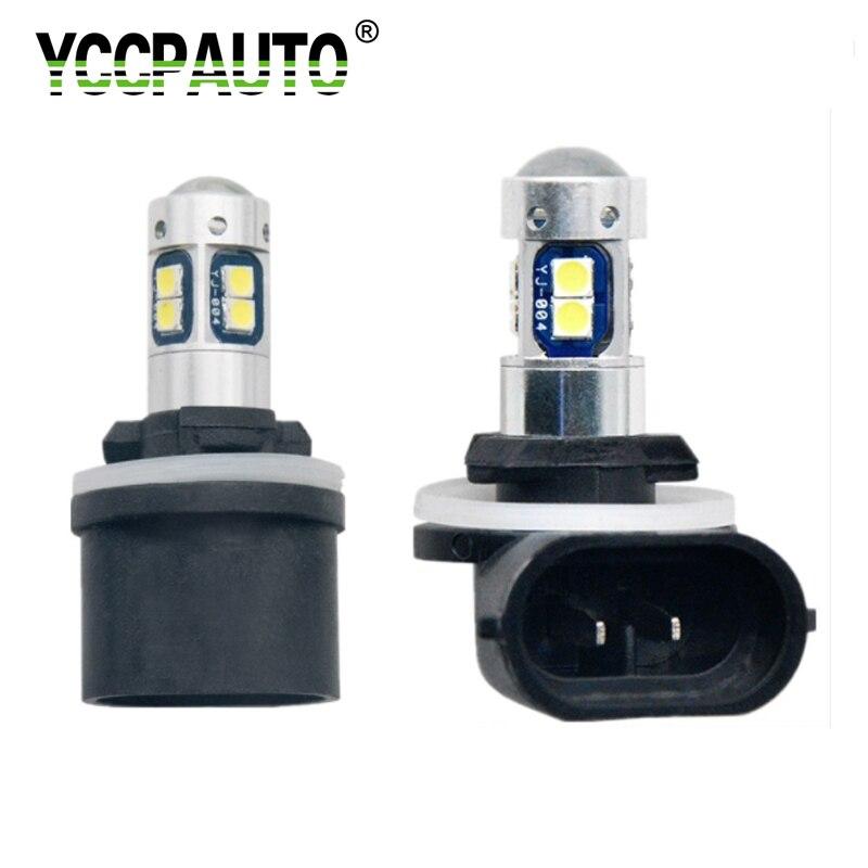 YCCPAUTO Super Helle H27 880 880 H27W H27W/2 LED Auto Nebel Lichter 10W 3030 Led-lampen 12V Auto Nebel Lampe DRL Weiß 6000K 2Pcs