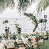 wrought iron circle wedding flower stand diy wedding props party decoration arrangement arch frame artificial flower frame