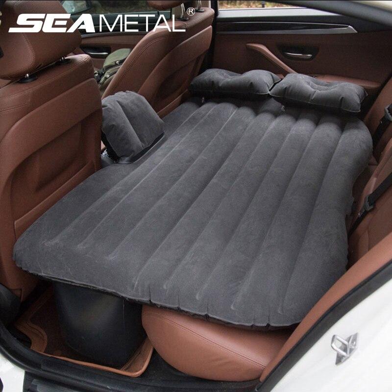 Colchón inflable de viaje para coche, funda de aire para asiento de coche, cubierta Universal para respaldo, colchón, bomba de aire suave, ropa de cama, accesorios para coche