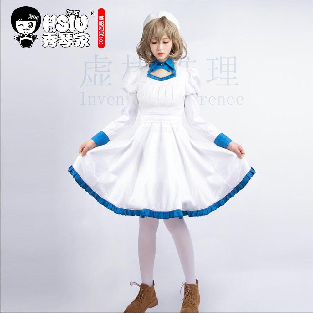 HSIU аниме изобрел вывод Косплей Kotoko Iwanaga костюм шляпа женское платье Лолита