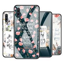Bible Verse Jesus Christ Christian Tempered Glass Phone Case for Samsung Galaxy A51 A71 A81 A91 A10 A20 A30 A40 A50 A70 A01 M31
