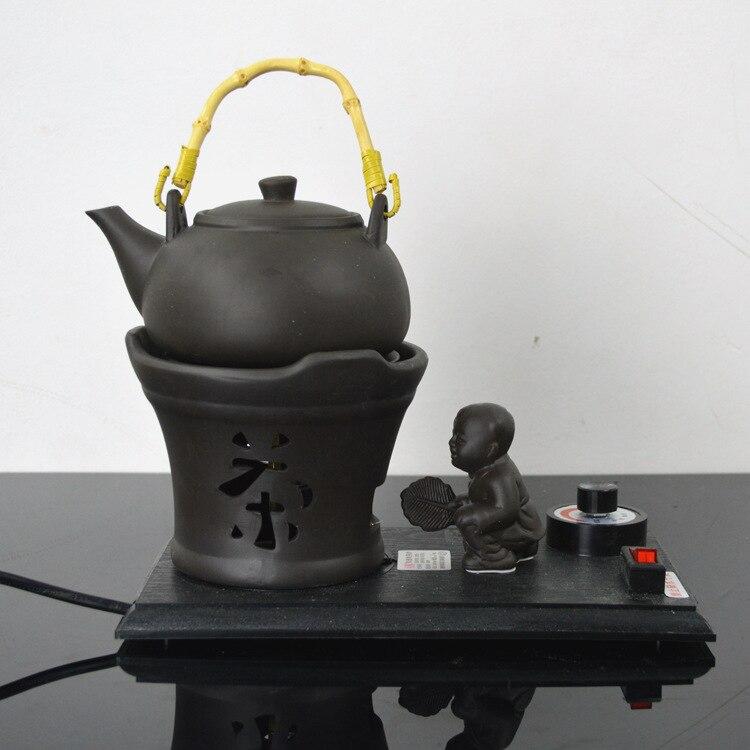 إبريق شاي كهربائي من السيراميك الأرجواني ، وعاء شاي إلكتروني سريع من السيراميك ، غلاية شاي