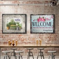 plant vintage metal plate tin signs wall poster decals plate painting bar club pub home decor wall 3020cm